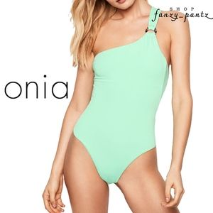 NEW Onia Jenna One Shoulder One Piece Swimsuit